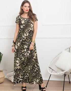 Φόρεμα Maxi Leopard