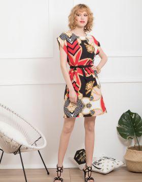 Φόρεμα midi αλυσίδες τύπου Hermes